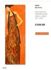November £100 Promo - Scarf by Dewa Painting