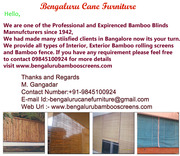 Bamboo Blinds Bangalore Call 9845100924