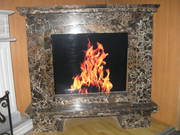 MARBLE FIREPLACE / Emperador Gold