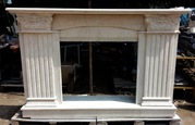 MARBLE FIREPLACE / Travertine Light
