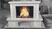 MARBLE FIREPLACE / Fiore Beige