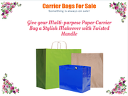 01618832344 Tremendous Look of Paper Carrier Bags