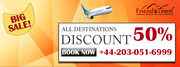 Mega Sale On Flights to All Destinations from UK +44 203 051 6999